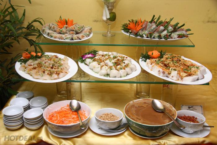 Buffet Chay Trưa Cỏ Nội – KS Bông Sen 2 – Tặng Phiếu Học Nấu Món Chay
