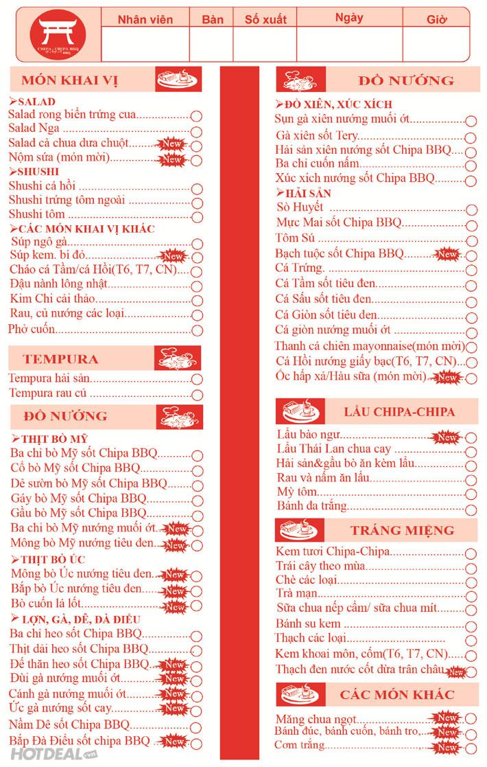 Buffet Nướng Và Lẩu Nhật Bản Không Khói Tại Chipa- Chipa BBQ
