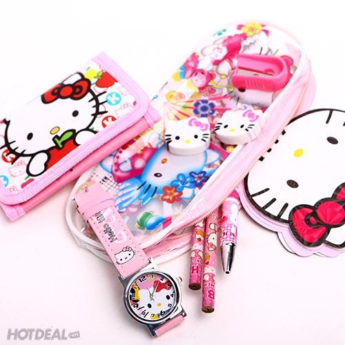 Bộ Đồ Dùng Học Tập Hello Kitty Cho Bé Gái