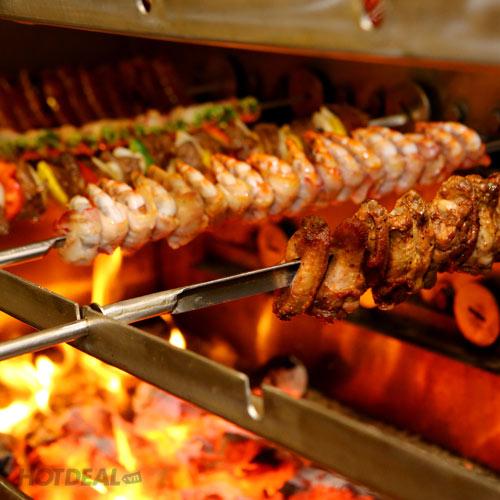 Buffet Tối BBQ Tại JJ's Brazilian BBQ Restaurant& Bar