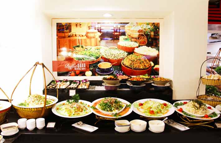 Buffet Gánh Buổi Tối Tại Khách Sạn Bông Sen
