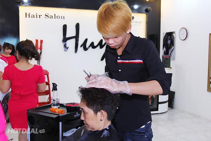 Dịch Vụ Làm Tóc Trọn Gói Tặng 2 Lần Hấp Dầu Tại Salon Huy