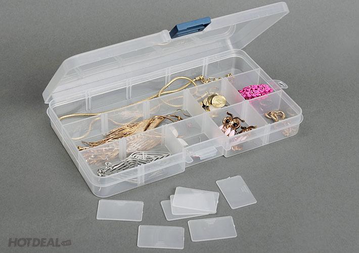 Combo 2 Hộp Nhựa Đựng Trang Sức Nhiều Ngăn