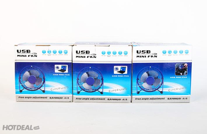 Quạt USB Mini Lồng Sắt