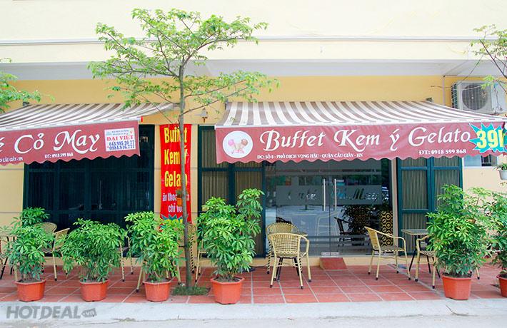 Buffet Kem Ý Cho 2 Người tại Cỏ May Caffe