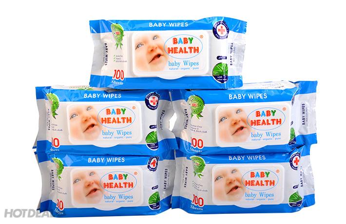Combo 5 Gói Khăn Ướt Baby Healthy Loại 100 Tờ