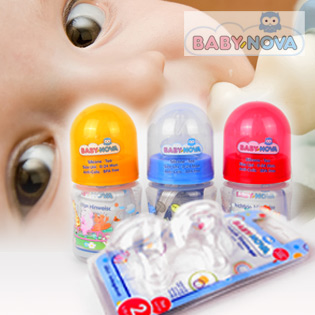 Combo Bình Sữa Baby Nova PP 45001 + Núm Vú Mủ Cao Su Baby – Nova.
