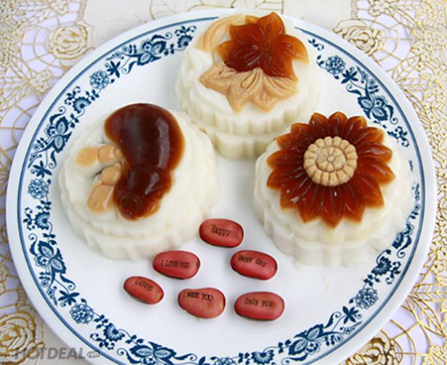 Hộp 4 Bánh Trung Thu Rau Câu - Hương Vị Mới Mùa Trung Thu