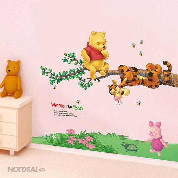 Decal Dán Tường Gấu Pooh