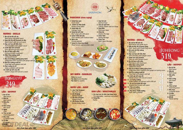 Buffet Lẩu Nướng SARIWON - Royal City - Miễn Phí Pepsi Tươi