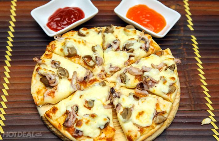 Combo 2h Hát + 2 Pizza + Salad  + Bia/ Nước Ngọt Tại NH Pizza Tom