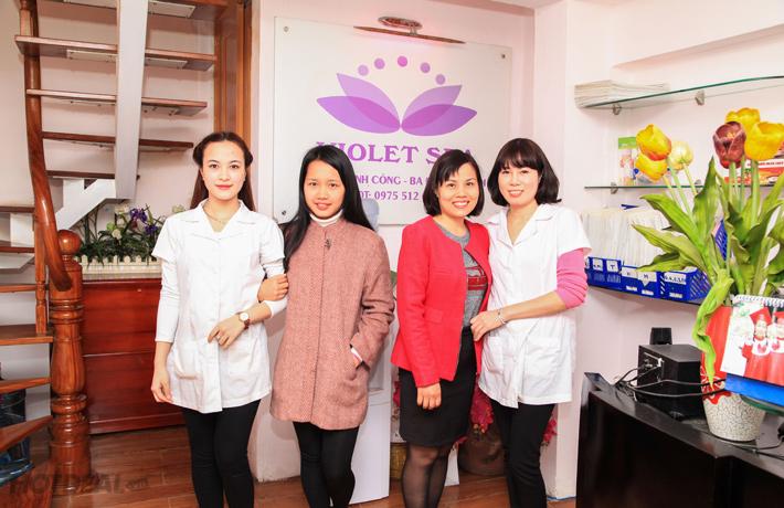 Tẩy Da Chết, Massge Toàn Thân + Ủ Sữa Non Tại Violet Spa