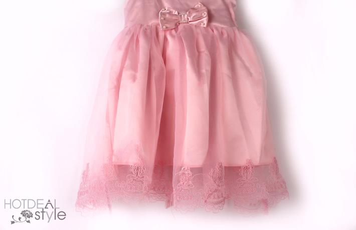 Đầm Eurostyle Ren Thêu Cao Cấp Cho Bé