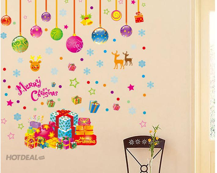 Decal Dán Tường Quà Tặng Giáng Sinh ( 50 x 70 )