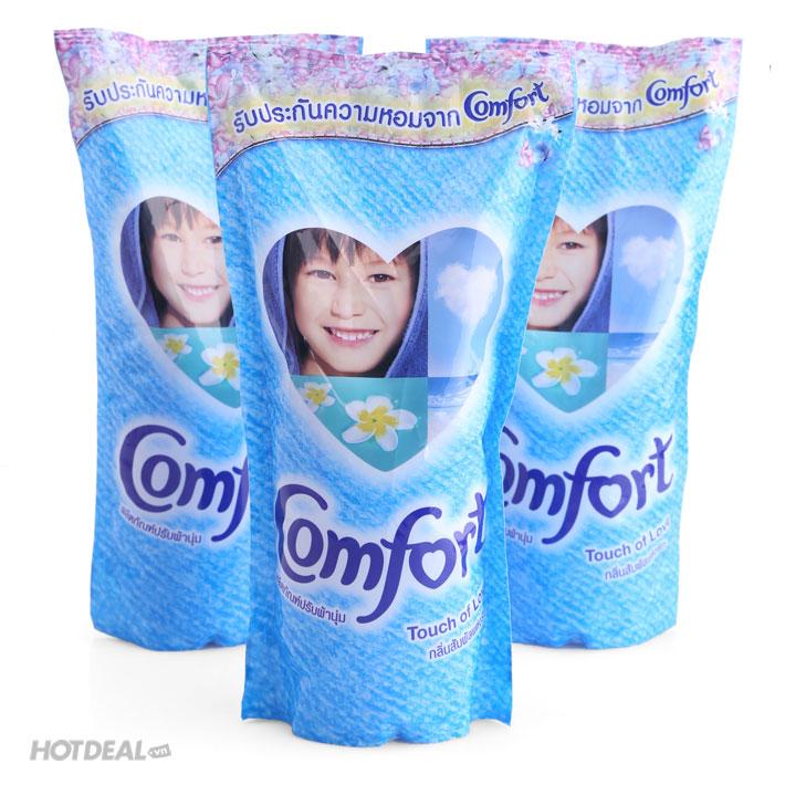 Combo 3 Gói Nước Xả Vải Comfort Thailand Màu Hồng, Xanh (600ml/Gói)