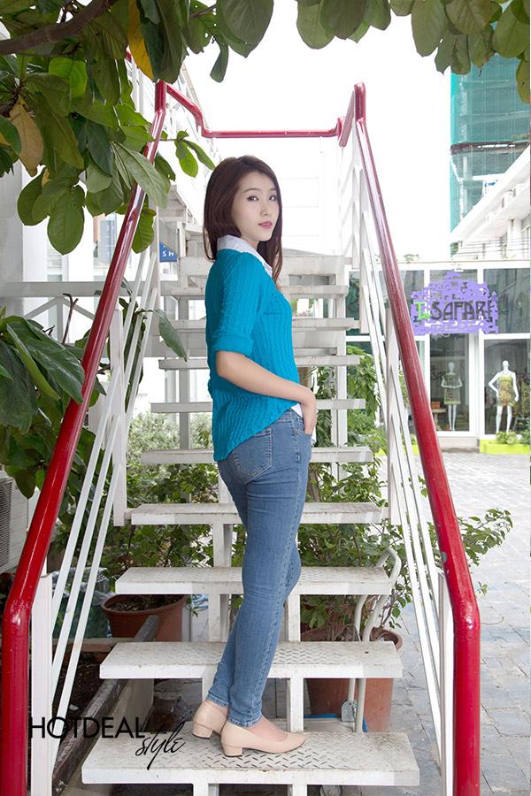 Áo Len Cổ Sơ Mi Korea