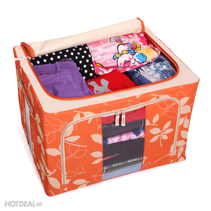 hộp đựng đồ livingbox hộp đựng đồ giá rẻ 2 hộp vải khung sắt