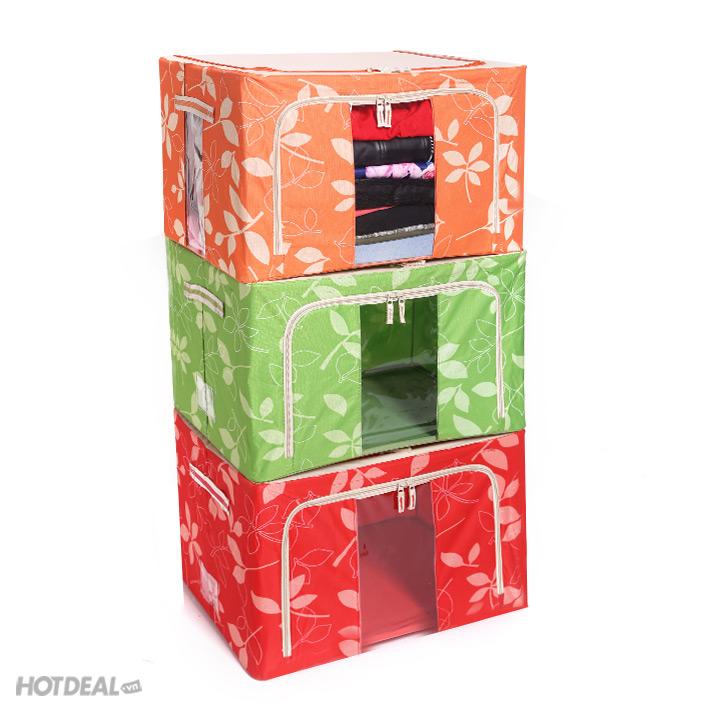hộp đựng đồ livingbox 1 hộp đựng đồ giá rẻ hộp vải khung sắt