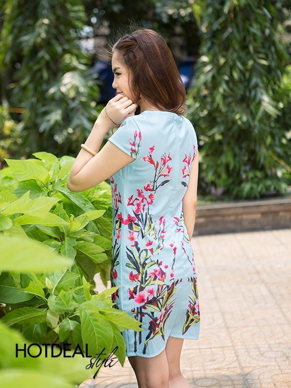 Đầm Hoa Form Suông Mùa Thu
