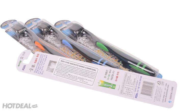 Combo 4 Bàn Chải Đánh Răng Nockito Nano Charcoal Hàn Quốc.