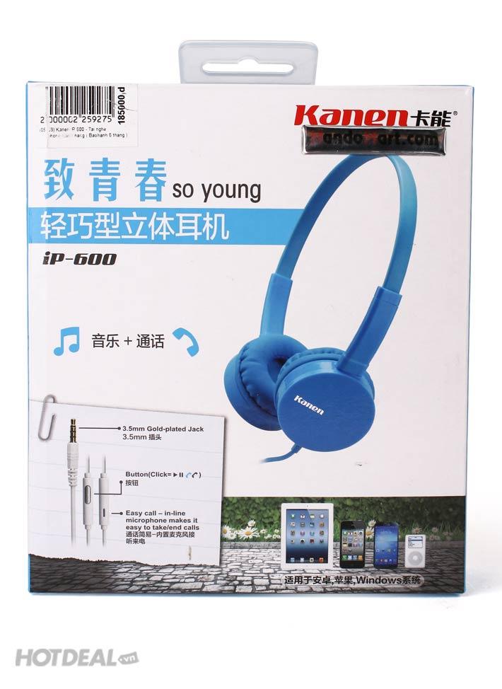 Kanen IP 600 - Tai Nghe Iphone Chính Hãng (Bảo Hành 6 Tháng)