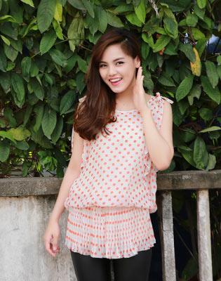 Đầm Voan Bi Chân Váy Dập Pli - Cao Cấp tại Hồ Chí Minh