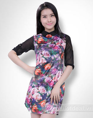 Đầm Thân Hoa Tay Voal tại Hồ Chí Minh