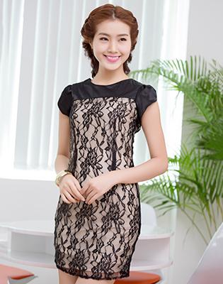 Đầm Ren Tay Búp Măng Sang Trọng