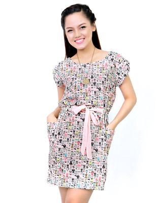 Đầm Họa Tiết  Xinh Xắn tại Hồ Chí Minh