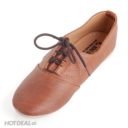 Giày Oxford Giả Da Màu Nâu