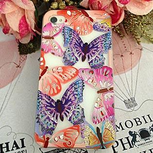 Ốp Lưng Silicon Bướm Xinh Dành Cho iPhone 4/4S/5/5S