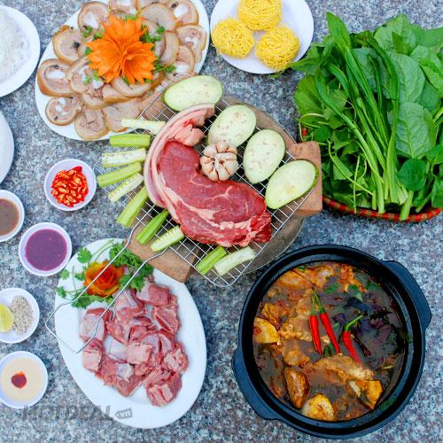 Set Menu Bò Củ Chi Cao Cấp Cho 3-4 Người Tại Nhà Hàng Cao Nguyên