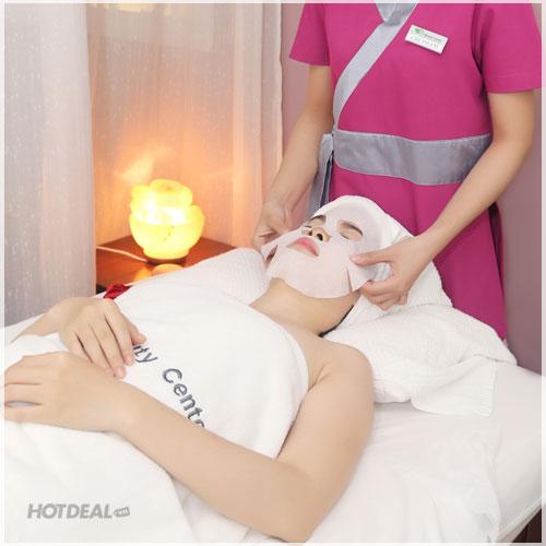 Massage Đá Muối Độc Đáo + Đắp Mặt Nạ Trắng Da 75' Tại CH Beauty Center