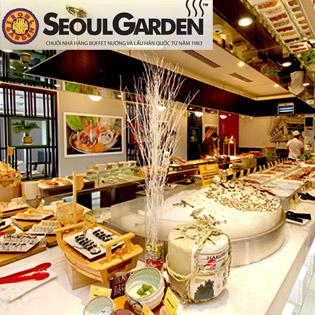 Buffet Seoul Garden Lẩu & Nướng (Bò Mỹ & Hải Sản)  Trưa và Tối-Vincom