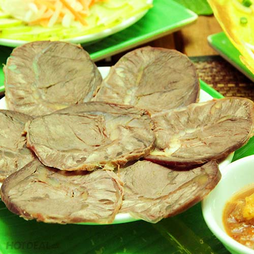 1 Bánh Xèo Bà Hai + Dĩa Bắp Bò/ Nghêu Hấp/Sò Nướng