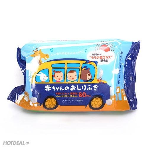 Combo 3 Bịch Khăn Ướt Trẻ Em Showa Nhập Khẩu Nhật Bản