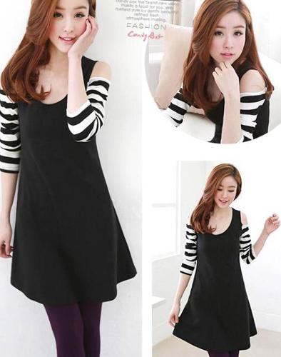 Váy Ôm Khoét Vai Hàn Quốc