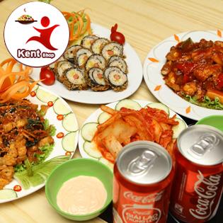 Set Hàn Quốc 2 Người Tại Kentfood Quán - Tặng Kèm 2 Coca
