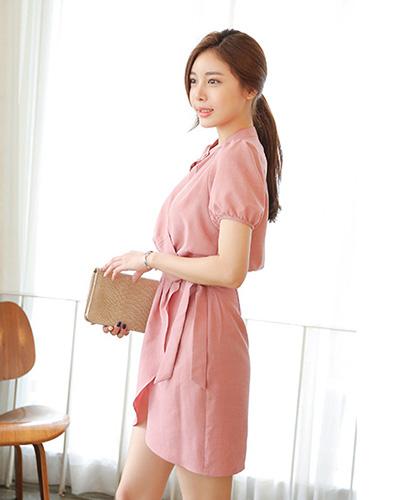 Đầm Linen Vạt Xéo Thanh Lịch