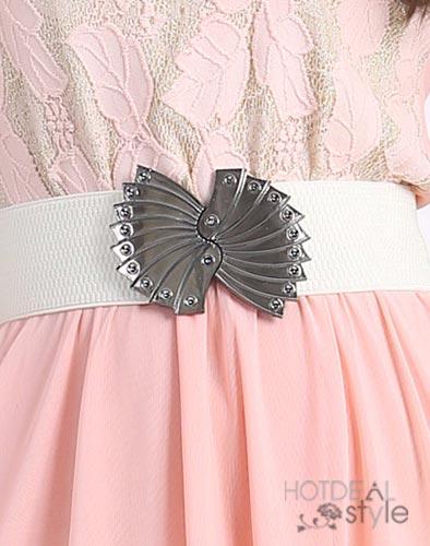 Đầm Ren Họa Tiết Chiếc Lá - Kèm Nịt
