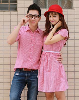 Combo Áo Sơ Mi Nam Và Đầm Caro Nữ Couple tại Hồ Chí Minh
