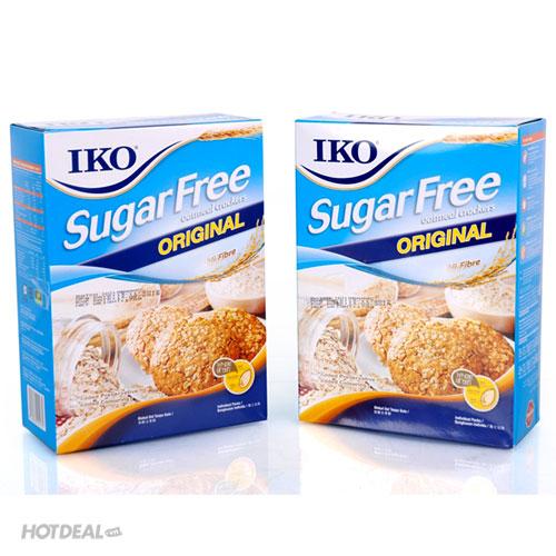 Combo 2 Hộp Bánh Yến Mạch Không Đường IKO Nhập Khẩu Malaysia