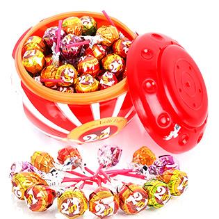 Hộp Kẹo Mút 2 Trong 1 Có Chewing Gum Bên Trong 75 Cây