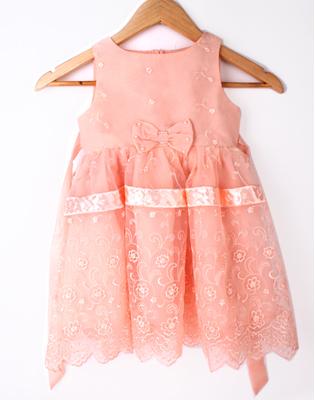 Váy Công Chúa Eurostyle Ren Thêu Cao Cấp Cho Bé