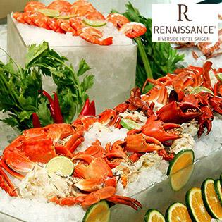 International Buffet Trưa Hải Sản Tại KS Renaissance Riverside 5 Sao