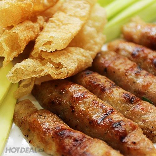Combo 02 Phần Nem Nướng / Thịt Luộc Cuốn Bánh Tráng + 02 Nước