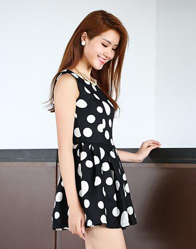 Đầm Bi Xòe Form Chuẩn Hàn Quốc