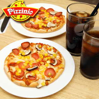 Set 2 Pizza Kèm Đồ Uống Cực Ưu Đãi Cho 2 Người.