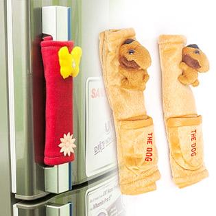 Bộ 2 Tay Nắm Tủ Lạnh Hình Gấu Có Túi Đựng