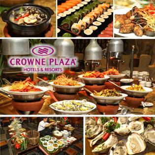 Buffet Tối Âu Á Với Đồ Nướng Và Hải Sản Tại KS 5 Sao Crowne Plaza